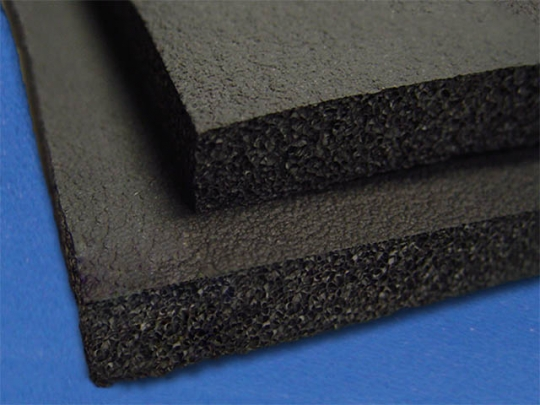 black gym rubber foam by mail