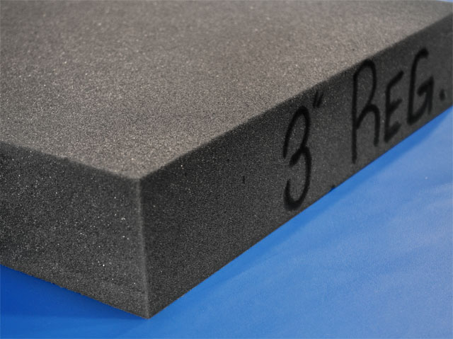 Solid Foam Charcoal Padding Sheets Open Cell