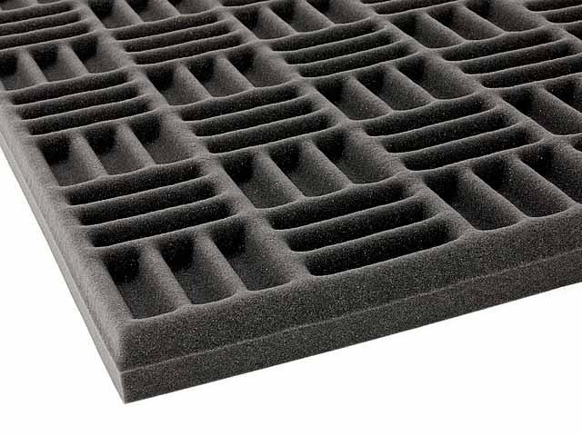 Acoustic grid foam foam by mail for Soundproof foam