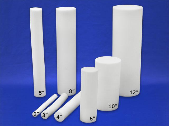 Home Decor Cylinder Cushion Foam Poly Foam Round Bolsters