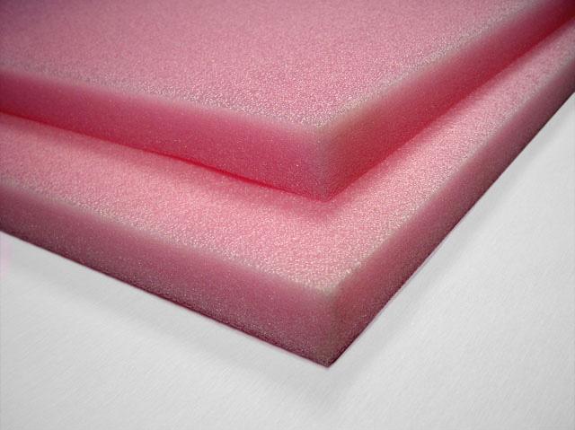 Anti Static Sheeting : Anti static polyethylene foam sheets lb pink