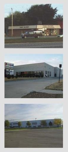 Foam Factory's expanding facilities, 1980 through 2013