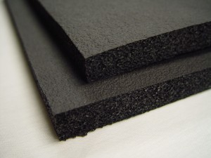 Black Gymnastic Foam Rubber