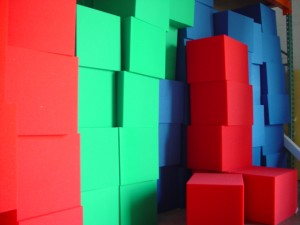 Colored Foam Blocks