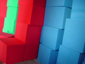Colored Foam Pit Blocks