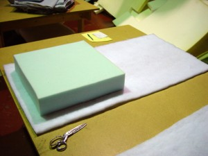 Wrapping Lux Foam With Soft Fiberfill