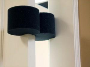 Open-Cell Charcoal Foam Door Stopper