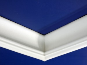 Foam molding corners are an example of a surprisingly easy foam cutting job