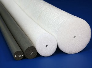 Polyethylene Cylinders For Boffers or Padded Weapons