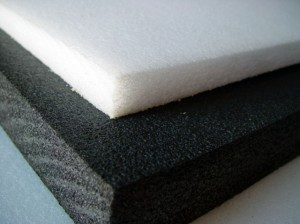 Thicker foam like polyethylene should be cut with multiple passes