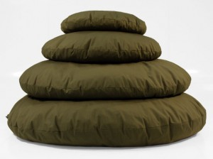 Round Olive Floor Cushions